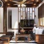 Nội Thất Phòng Khách Kết Hợp Phòng Thờ Tân Cổ Điển Đẹp Năm 2020 Tại Hải Dương