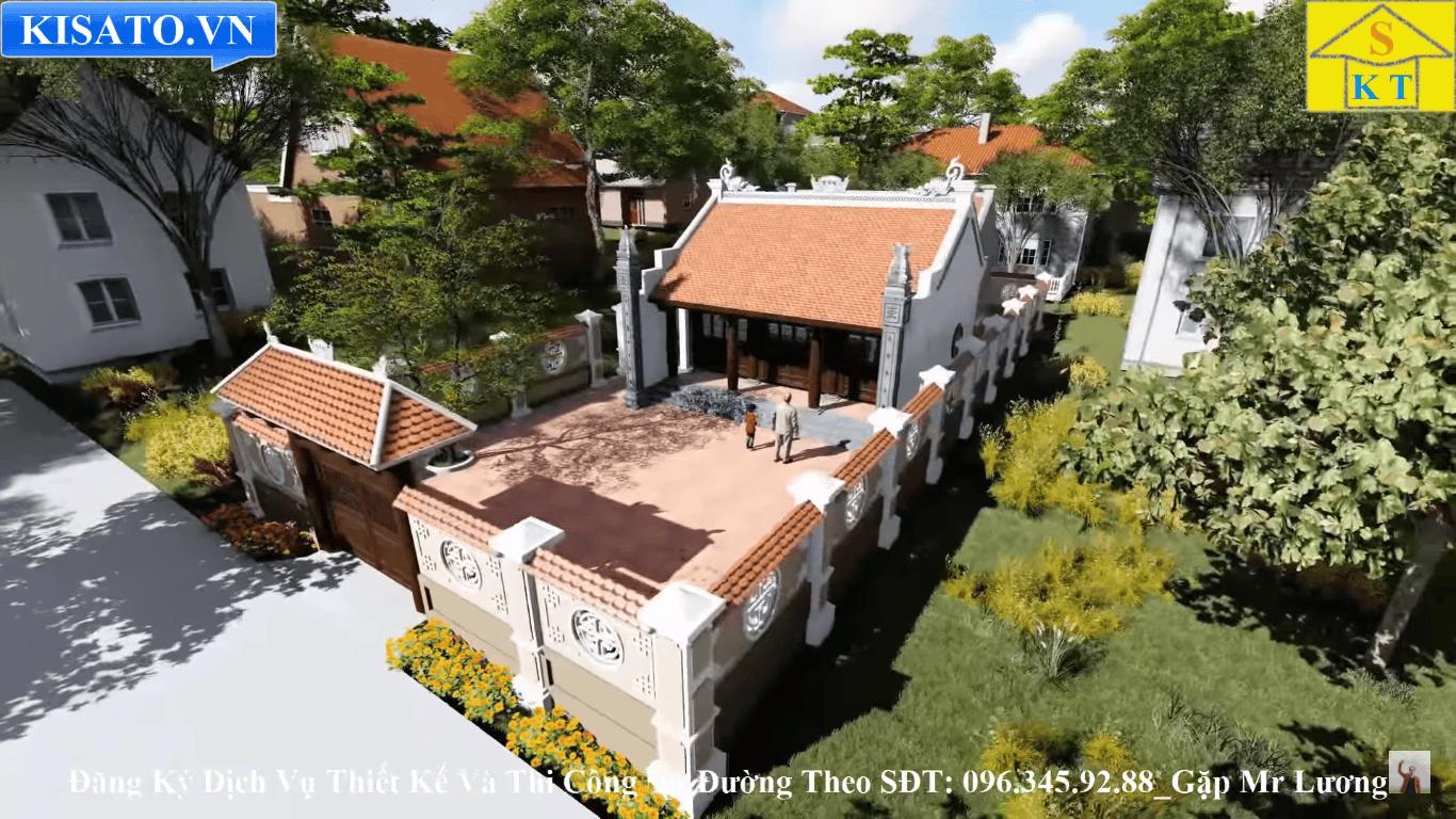 Phối cảnh 3d mẫu nhà thờ họ tại Hải Dương