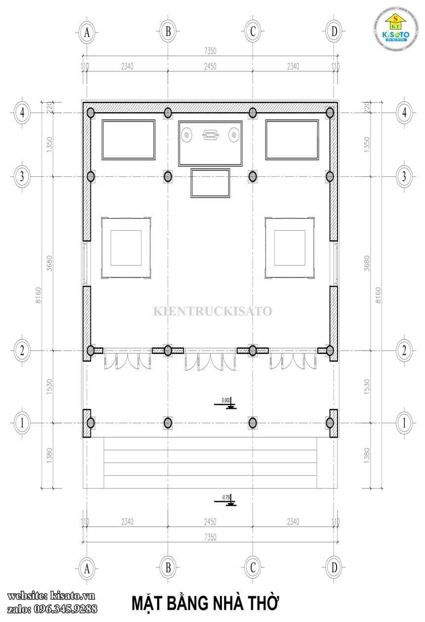Bản vẽ mặt bằng mẫu thiết kế từ đường kết hợp với biệt thự