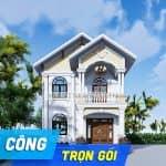 Thi Công Trọn Gói Công Trình Biệt Thự 2 Tầng Tân Cổ Điển Tại Định Quán, Đồng Nai Từ A - Z