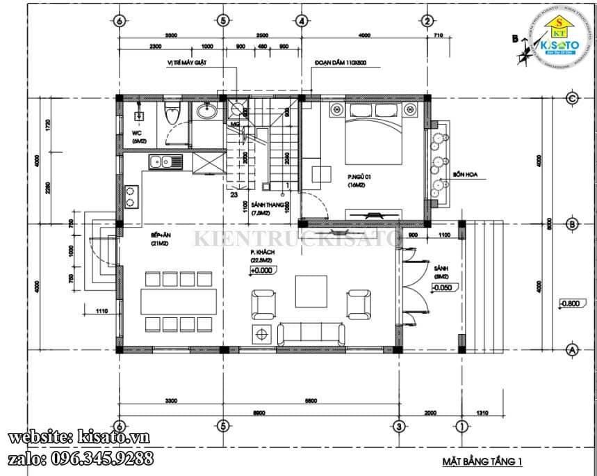 Biệt Thự 2 Tầng Mái Nhật