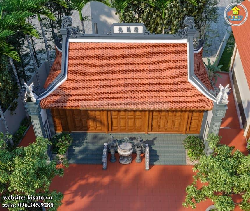 Thiết kế nóc nhà từ đường nhà thờ họ