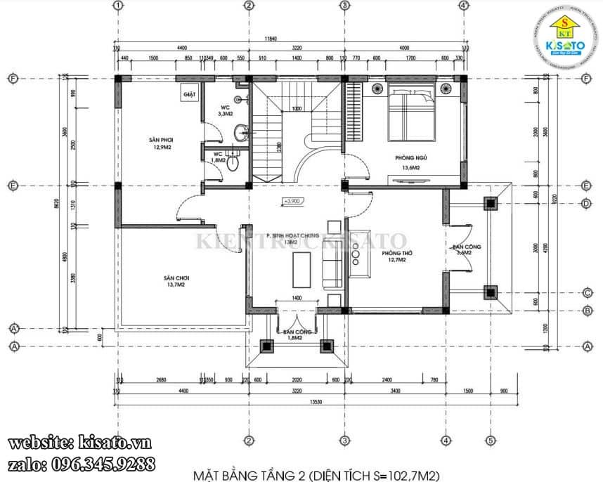 Mẫu Biệt Thự 2 Tầng