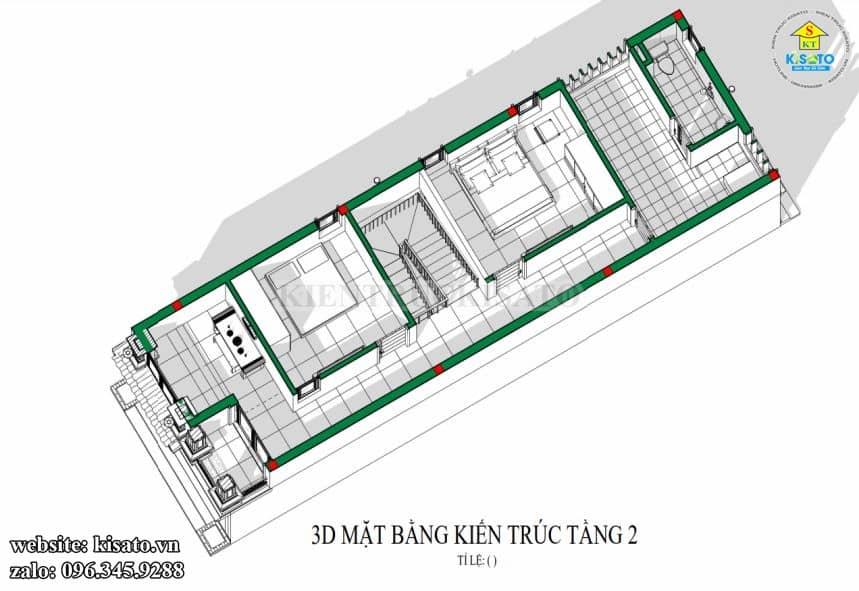 Mẫu Nhà Ống 2 Tầng Tại Lâm Đồng