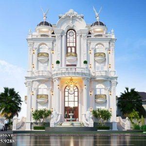 Phối Cảnh 3d Mẫu Lâu đài Tân Cổ điển 4 Tầng Lộng Lẫy Tại Quảng Ninh (2)